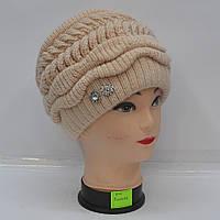 """Модна  жіноча   в'язана   шапка  """"Клумба"""""""