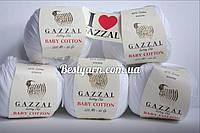 Пряжа Gazzal Baby cotton белый
