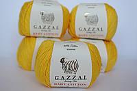 Пряжа Gazzal Baby cotton желтый