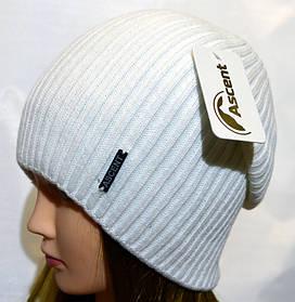 Длинная вязаная шапка Ascent белая