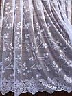 Тюль готовая пошитая с тесьмой белая 190х300 код 01485
