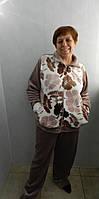 Женская теплая  пижама большого размера. Размеры 52, 54, 56, фото 1