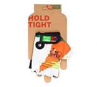 Перчатки Green Cycle NC-2339-2014 Kids без пальцев L бело-оранжевые