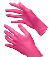Перчатки нитриловые S неопудренные 100 шт/уп розовые
