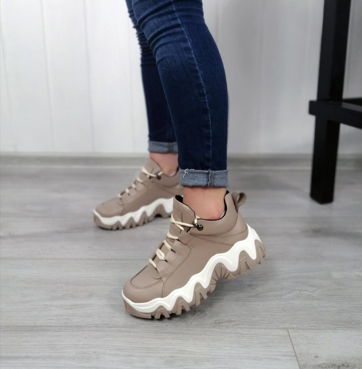Бежеві спортивні черевики