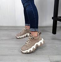 Бежеві спортивні черевики, фото 1
