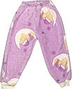 Детская тёплая пижама рост 110 4 года-5 лет махровая сиреневая на девочку для детей Ф841, фото 3