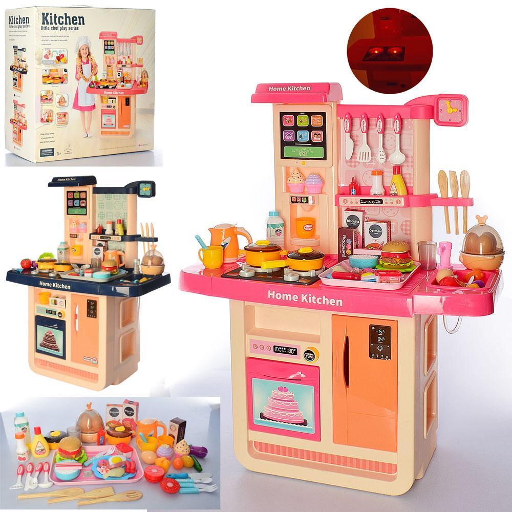 Большая игровая кухня с льющейся водой и эффектами, WD-P31-R31, Розовая