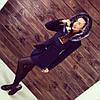 """Утепленное зимнее пальто """"Кобра"""" с мехом. Т-135, фото 3"""