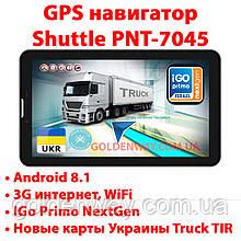 Автомобильный GPS навигатор планшет Shuttle PNT-7045 с 3G  Android 8.1 7 дюймов Igo Nextgen Truck УКРАИНА CPA