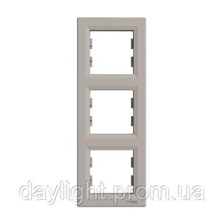 Рамка для розетки 3-я бронза Schneider Electric Asfora