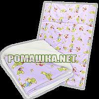 Детское одеяло на овчине (подкладка), утеплитель-холлофайбере, верх-100% хлопок, 140х100см, ТМ Ромашка, фото 1