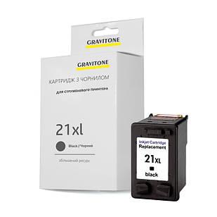 Картридж совместимый HP 21 XL (C9351A), повышенный ресурс 450 копий, аналог от Gravitone (GTH-CRG-21XL-BK)