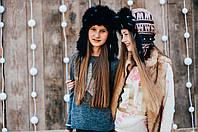 Детская шапка зимняя для девочек КОЛИН оптом размер 52-54-56