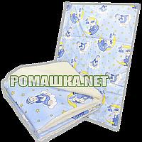 Дитяче ковдру на овчині (підкладка), утеплювач-тканини холлофайбер, верх-100% бавовна, 140х100см, ТМ Ромашка, фото 1