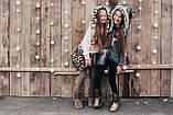 Детская шапка зимняя для девочек НЕБРАСКА (набор) оптом,серый, фото 3