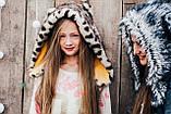 Детская шапка зимняя для девочек НЕБРАСКА (набор) оптом,серый, фото 4