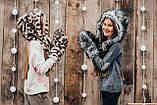 Детская шапка зимняя для девочек НЕБРАСКА (набор) оптом,серый, фото 2