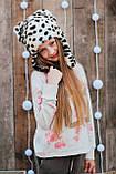 Детская шапка зимняя для девочек НЕБРАСКА (набор) оптом,серый, фото 6