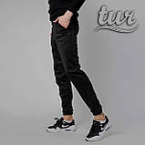 Спортивні штани чоловічі чорні бренд ТУР модель Роккі (Rocky) розмір XS, S, M, L,XL, фото 2