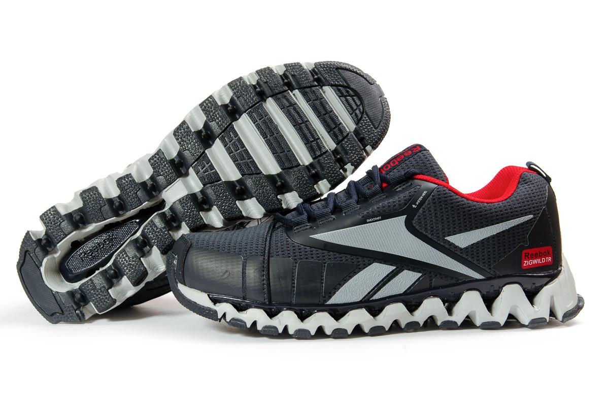 Мужские кроссовки в стиле Reebok Zigwild TR, текстиль, синие, 42(26,8 см), размеры:41,42,43,44