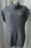 Платье женское вязаное свитер шерсть зима M&S woman р.46-48 3959
