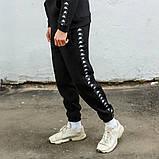 Cпортивный костюм мужской черный с лампасом Капа (Kappa) весна/лето, фото 6