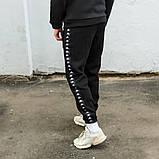 Cпортивный костюм мужской черный с лампасом Капа (Kappa) весна/лето, фото 7
