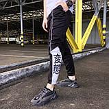 Cпортивные штаны мужские черно-белые с лампасом от бренда ТУР модель Крид (Creed), фото 5