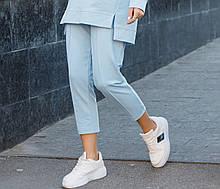 Спортивные женские штаны голубого цвета Джейд  от бренда Тур S, M, L