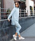Костюм жіночий спортивний жіночі штани блакитного кольору Нефрит, жіноче блакитне худі Шива S, M, L весна/літо, фото 2