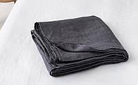 Темно-серая льняная простынь, 220*240 см
