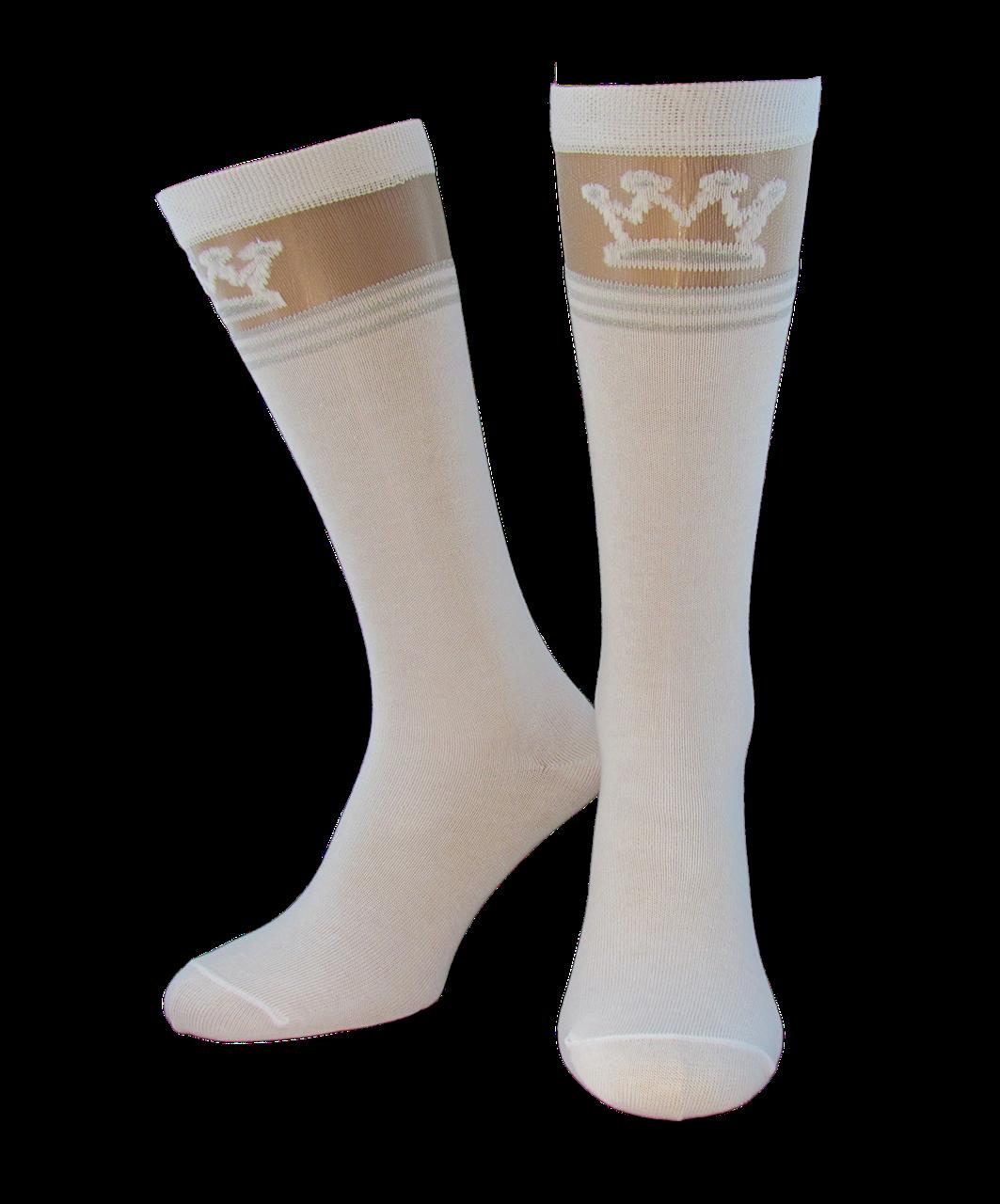 Носки гольфы детские Джулия KG1 CRISTAL LUREX 001 white
