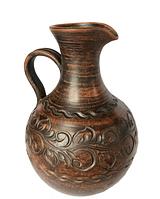 """Кувшин винный """"Грузия"""" из красной глины с резкой 2,5л."""
