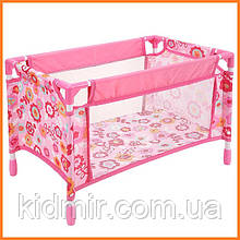 Игрушечная кроватка манеж для кукол You & Me розовый