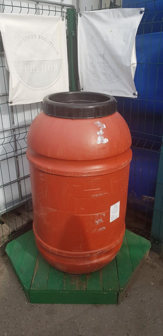 0237-21/1: С доставкой в Мариуполь ✦ Бочка (220 л.) б/у пластиковая