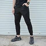 Спортивные штаны мужские черные с манжетом на молнии от бренда ТУР модель Феникс, фото 3