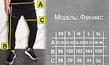 Спортивные штаны мужские черные с манжетом на молнии от бренда ТУР модель Феникс, фото 4