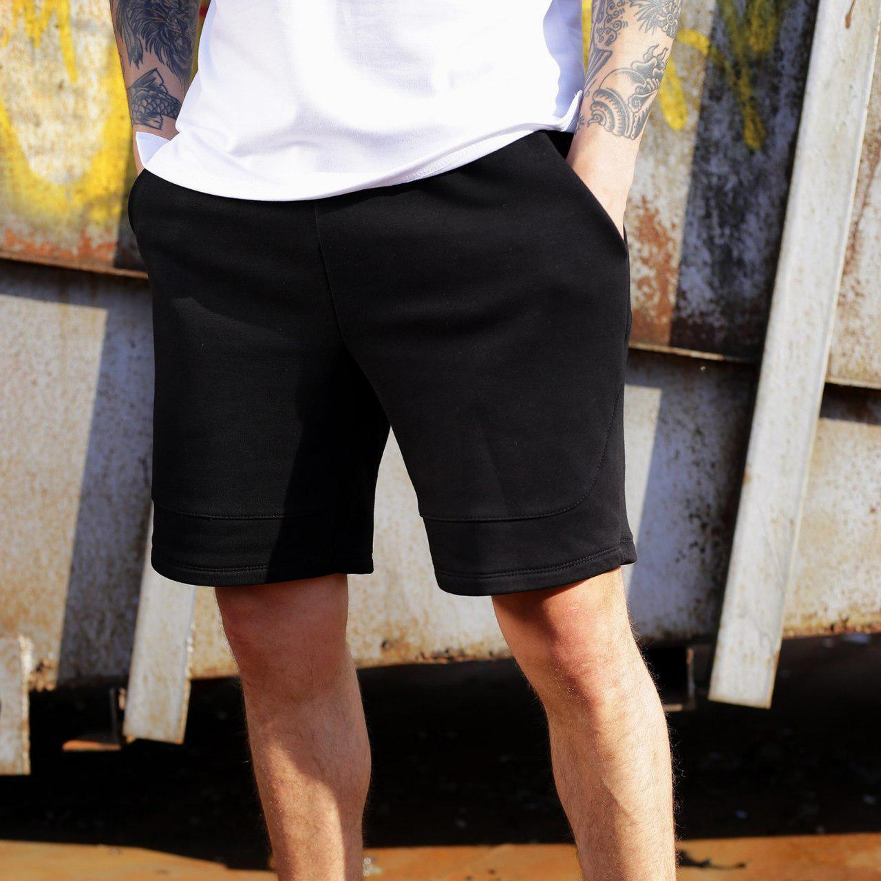 Спортивні чоловічі шорти чорного кольору бренд ТУР модель Сем (SAM) розмір S, M, L, XL,