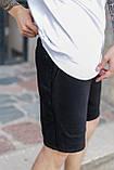 Спортивні чоловічі шорти чорного кольору бренд ТУР модель Сем (SAM) розмір S, M, L, XL,, фото 4