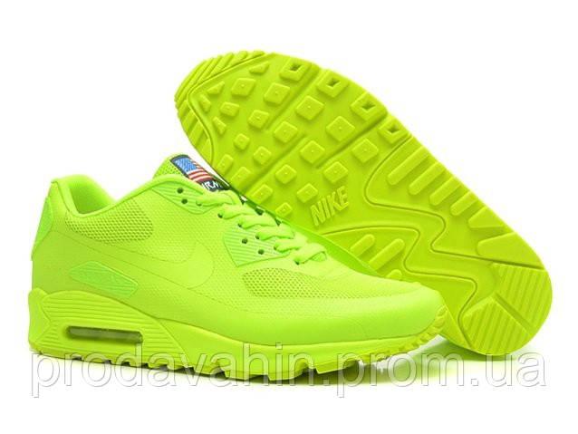 Женские кроссовки Nike Air Max 90 Hyperfuse Салатовые. кроссовки ... a7788f86aa0a3