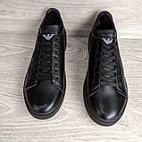 Кеди шкіряні чоловічі чорні Armani розмір 40, 41, 42, 43, 44, 45, фото 2