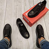 Кеди шкіряні чоловічі чорні Armani розмір 40, 41, 42, 43, 44, 45, фото 3