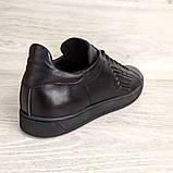 Кеди шкіряні чоловічі чорні Armani розмір 40, 41, 42, 43, 44, 45, фото 6