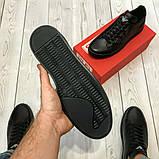 Кеди шкіряні чоловічі чорні Armani розмір 40, 41, 42, 43, 44, 45, фото 8