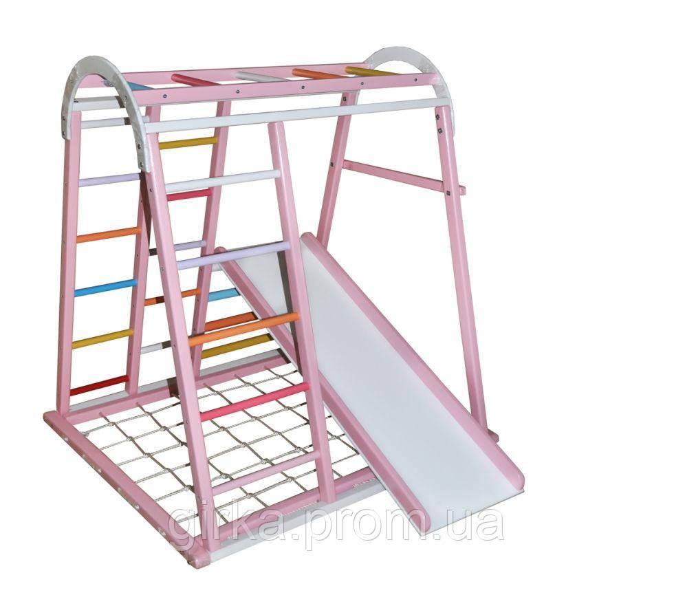 Детский спортивный комплекс Дракончик розовый