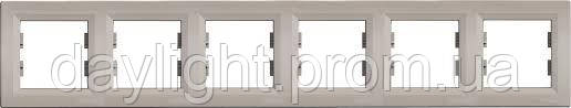 Рамка для розетки 6-я бронза Schneider Electric Asfora