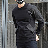 Свитшот мужской черный от бренда ТУР Такеда (Takeda) размер S, M, L, XL, XXL, фото 2