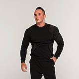Свитшот мужской черный от бренда ТУР Такеда (Takeda) размер S, M, L, XL, XXL, фото 4