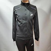 Чоловічий спортивний костюм Nike на блискавці еластан Туреччина M L XL 2XL 3XL Сірий